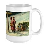 Santa Finding His Way Large Mug