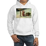 Santa Finding His Way Hooded Sweatshirt
