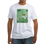 Sock Monkey Martini Bartender Fitted T-Shirt