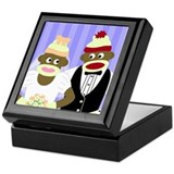 Sock Monkey Wedding Keepsake Box