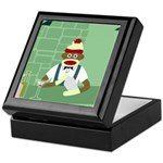 Sock Monkey Martini Bartender Keepsake Box