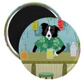 Border Collie Tiki Bar Magnet