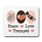 Peace Love Trumpet Mousepad