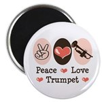 Peace Love Trumpet Magnet