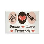 Peace Love Trumpet Rectangle Magnet