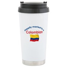 Happily Married Colombian 2 Ceramic Travel Mug