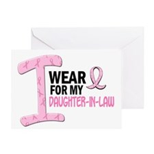 I Wear Pink For My Daughter-In-Law 21 Greeting Car