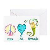 Peace,Luv, Mermaids Greeting Card