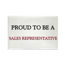 Proud to be a Sales Representative Rectangle Magne