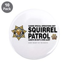 "Squirrel Patrol 3.5"" Button (10 pack)"