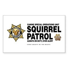 Squirrel Patrol Rectangle Sticker 10 pk)