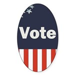 Vote Oval Sticker (50 pk)