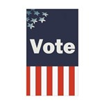 Vote Rectangle Sticker 10 pk)