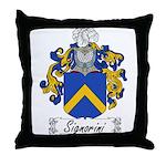 Signorini Family Crest Throw Pillow