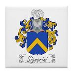 Signorini Family Crest Tile Coaster