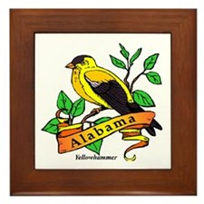 Alabama State Bird Framed Tile