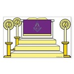 The Altar Rectangle Sticker 10 pk)