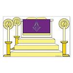 The Altar Rectangle Sticker 10 pk)