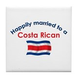 Happily Married Costa Rican 2 Tile Coaster