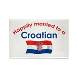 Happily Married Croatian 2 Rectangle Magnet