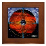 Web of Life Mandala Framed Tile
