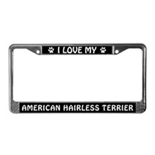 American Hairless Terrier License Plate Frame