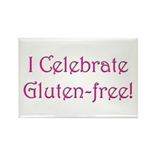 I Celebrate Gluten-free! Rectangle Magnet (10 pack