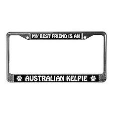 Best Friend is an Australian Kelpie License Frame