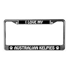 Australian Kelpies (PLURAL) License Plate Frame