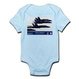 Blue Angels F-18 Hornet Infant Bodysuit