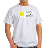 No Worries Ash Grey T-Shirt