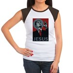 Obama Jesus Women's Cap Sleeve T-Shirt
