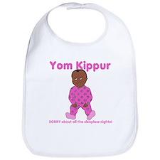 Yom Kippur Pink PJs Dark Skin Bib