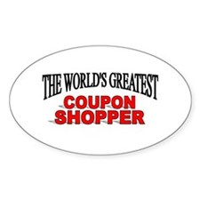 """The World's Greatest Coupon Shopper"" Decal"