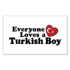 Everyone Loves a Turkish Boy Rectangle Decal