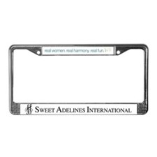 Cute Real women License Plate Frame