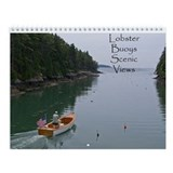 Lobster Buoys Scenic Views Wall Calendar