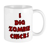 Halloween I Dig Zombie Small Mugs