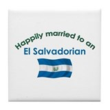 Happ Married El Salvadorian Tile Coaster