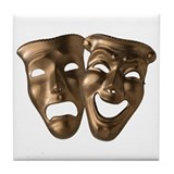 Drama and Comedy Masks Tile Coaster