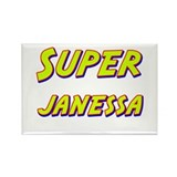 Super janessa Rectangle Magnet