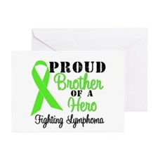 ProudBrotherHeroLymphoma Greeting Cards (Pk of 10)