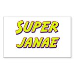 Super janae Rectangle Sticker