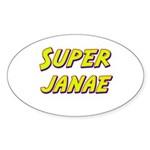 Super janae Oval Sticker