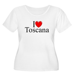 &quot;I Love (Heart) Toscana&quot; Women's Plus Size Scoop N