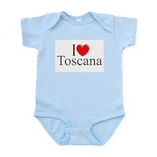"""I Love (Heart) Toscana"" Infant Bodysuit"
