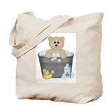 Bath Time Bear Tote Bag