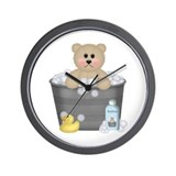 Bath Time Bear Wall Clock