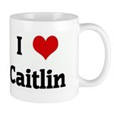 I Love Caitlin Small Mugs