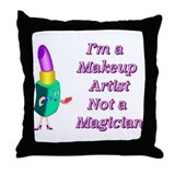 Makeup Artist Throw Pillow
